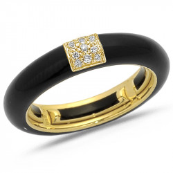 Enamel Band with Square...