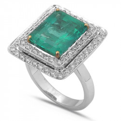 Emerald colombian ring
