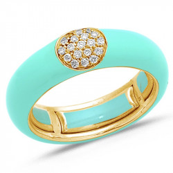 Enamel diamond band Give...