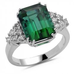 Green Emerald Cut Tourmaline