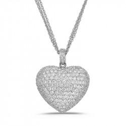 Heart Pendant in White Gold...