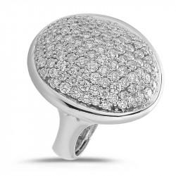 Domed Diamond Pavè Ring