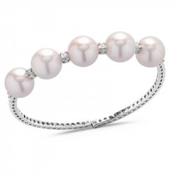 Flexible Bangle Natural Pearls