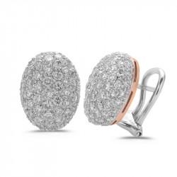 Diamond Oval Pavè Earrings