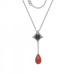 Red Coral, Onyx and Diamond...