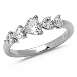 'Heart' Diamond Ring