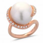 L' incanto della #perla #australiana  * #ororosa #brillanti #pinkgold #diamonds  #southseapearls